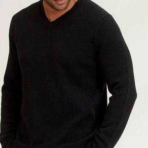 J. Crew Slim V Neck Cotton cashmere sweater ( XL )